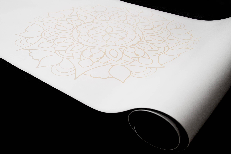 Mandala yoga mat by DIYogi