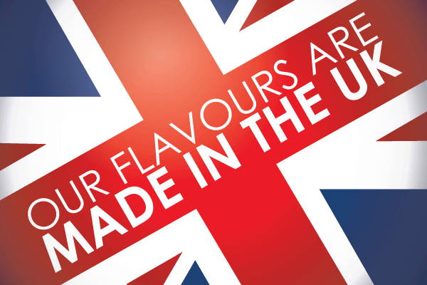 Our flavours and e liquids are made in the UK