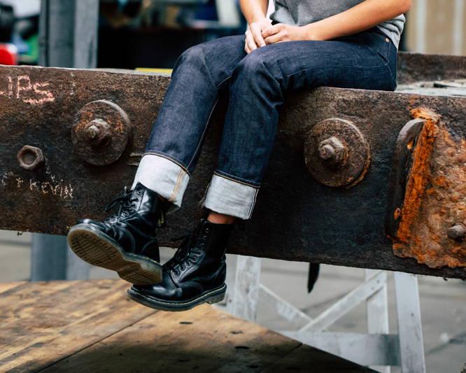 W-01 STRAIGHT special #2 15 oz. vintage indigo selvedge, women's vintage selvedge denim jeans.  raw sustainable denim for curvy women.