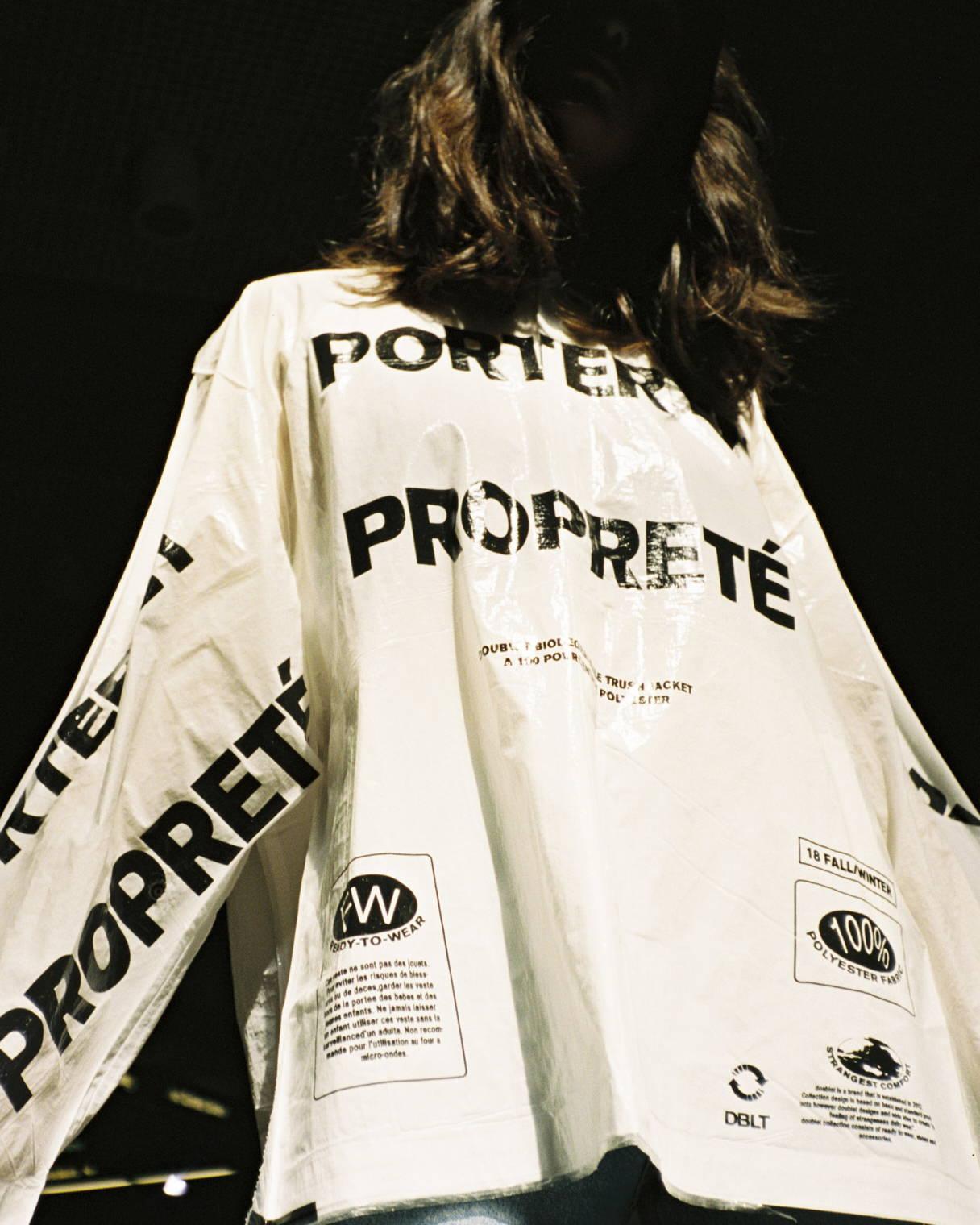 Doublet FW18 Porter et Properte´ Lacquered Shirt - Hlorenzo