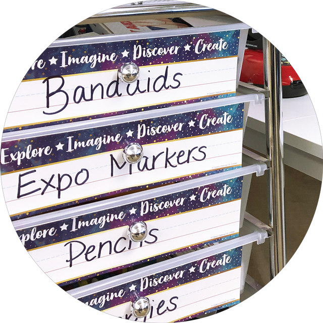 Nameplates for classroom organization