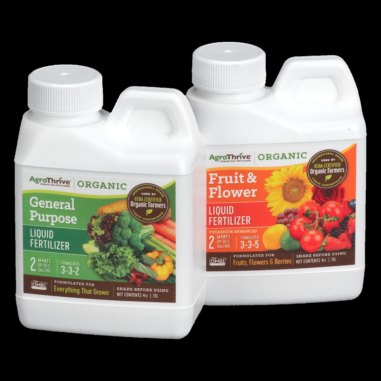 AgroThrive Organic Liquid Fertilizer   Fast Acting   Sample Bundle