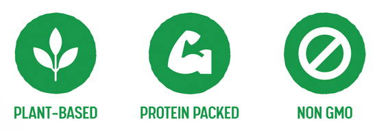 Plant-based, protein packed, Non GMO