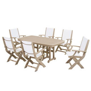 POLYWOOD COASTAL 6-SEAT RECTANGULAR DINING SET