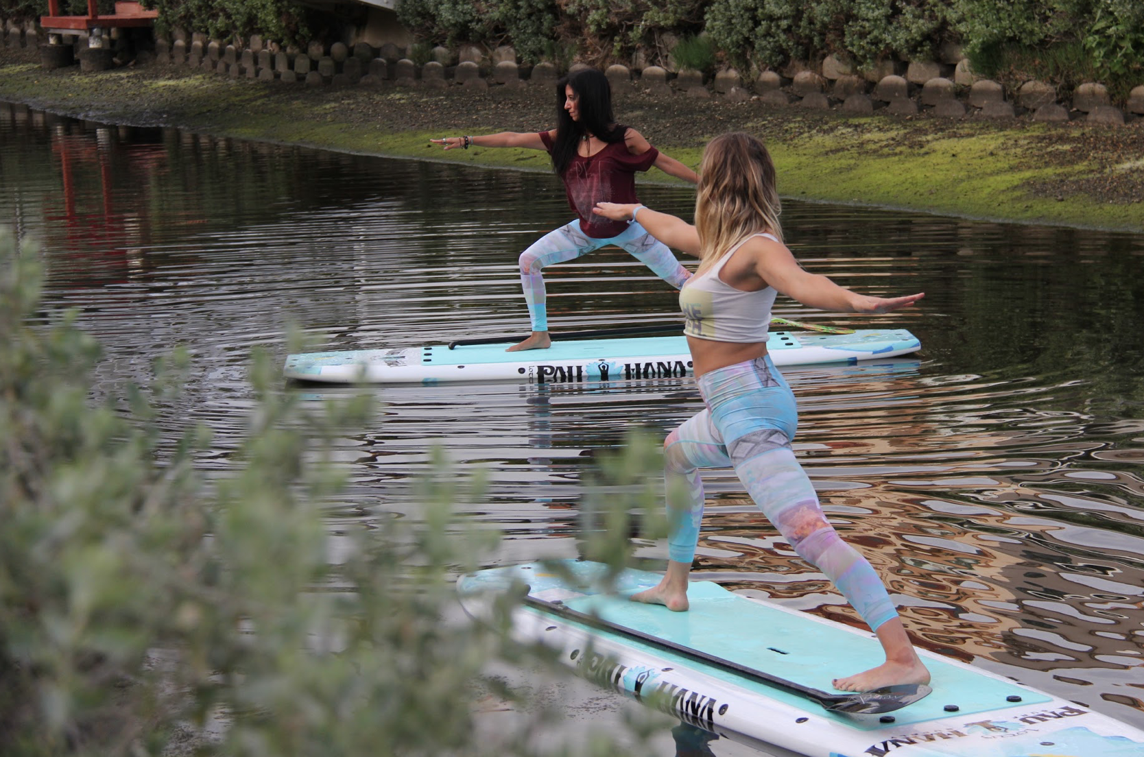 Yoga class with the Pau Hana Lotus Boards on the water