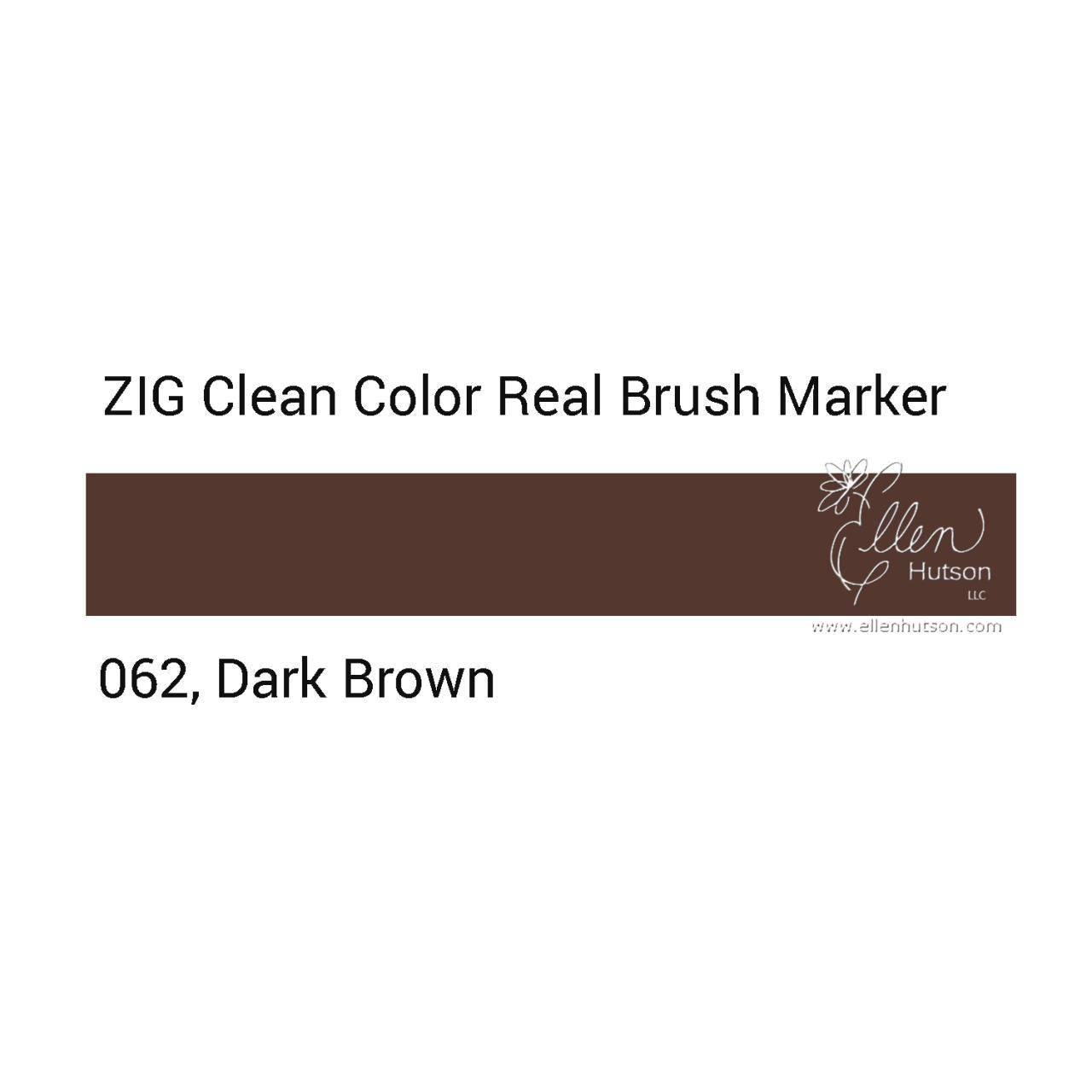 ZIG Clean Color Real Brush Marker Dark Brown 062