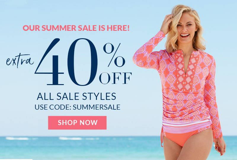 Shop Summer Sale for an extra 40% off all sale styles with code SUMMERSALE