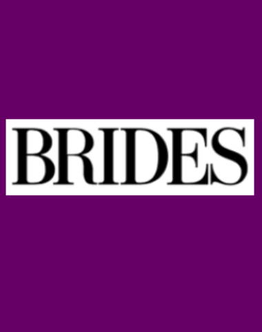 Purple rectangle icon with Brides logo in center
