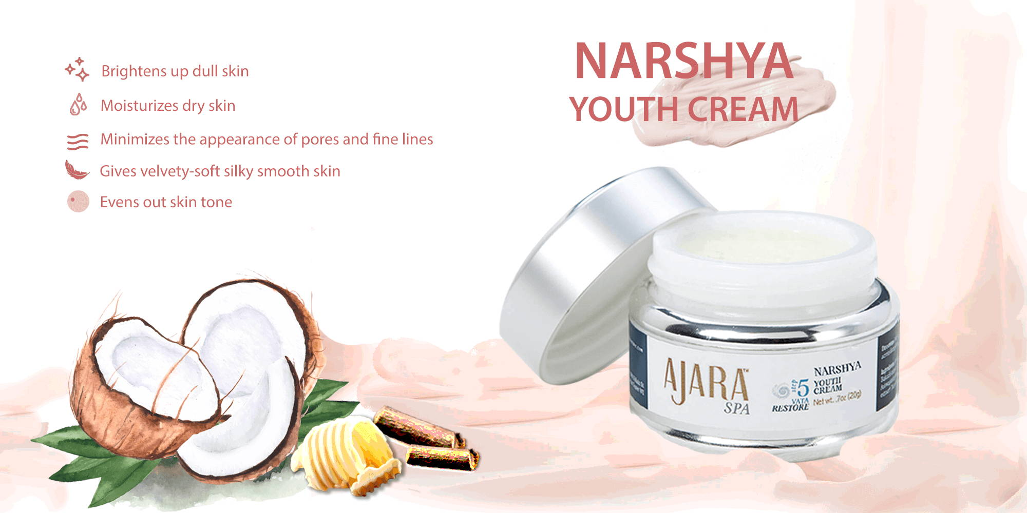 Get the benefits of 5 products in 1 with Narshya Youth Cream