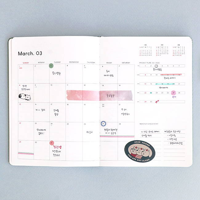 Monthly plan - ICONIC 2020 Brilliant dated weekly planner scheduler