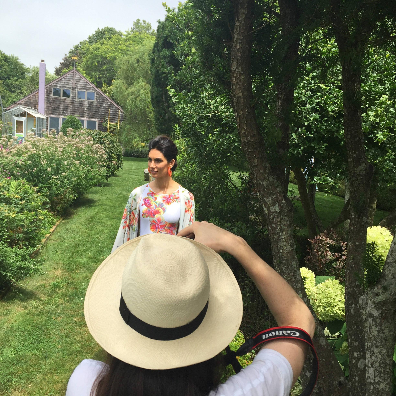 garden photo shoot