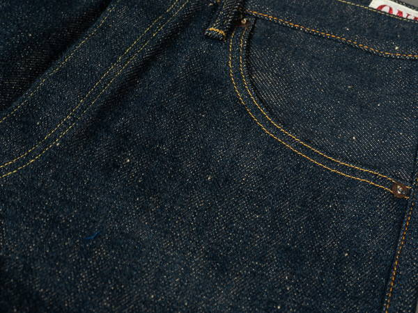 ONI x Tanuki unsanforized denim non wash version