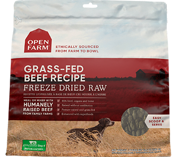 Grass-Fed Beef Freeze Dried Raw Dog Food |Open Farm