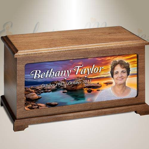 By The Sea Photo Funeral Urn