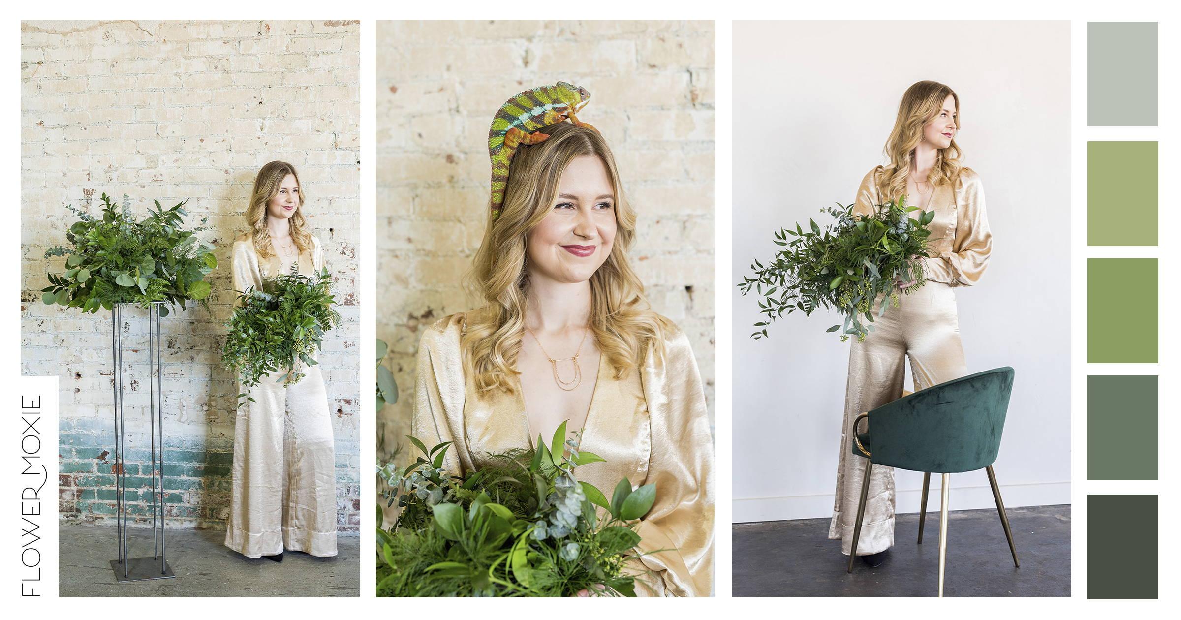 fresh greenery wedding flower packages online