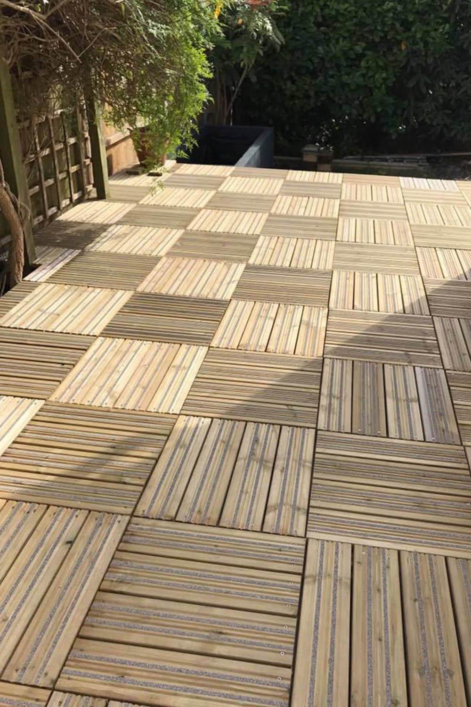 Garden Non-Slip Decking Tiles