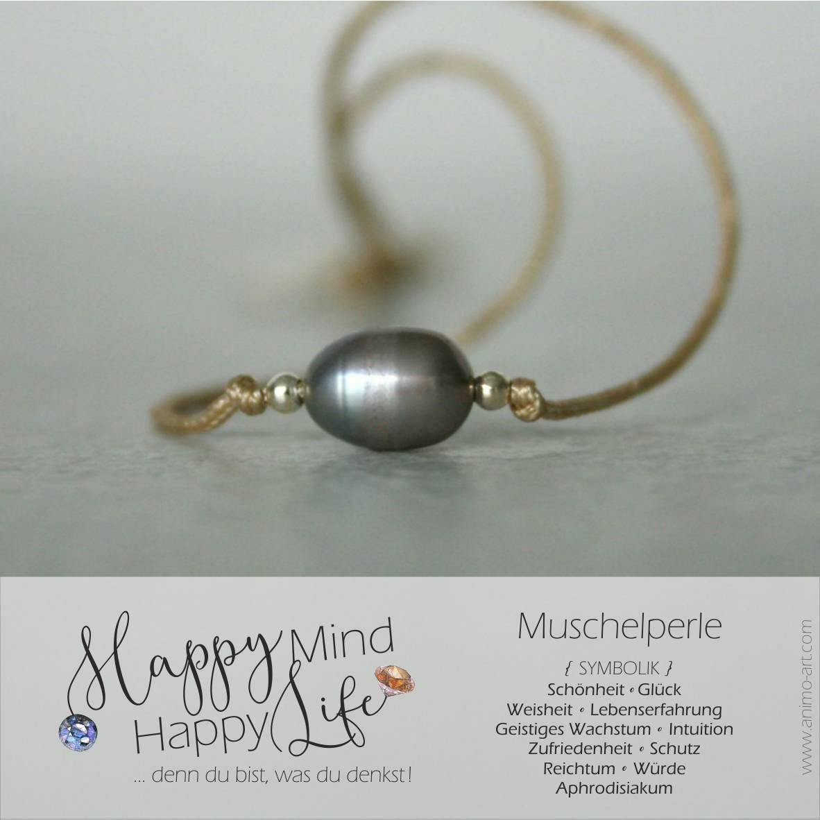 Muschel Perle Bedeutung / Schmuck mit Muschelpelen in beige, grau, rose, verschiedene Farben, Happy Mind Happy Life