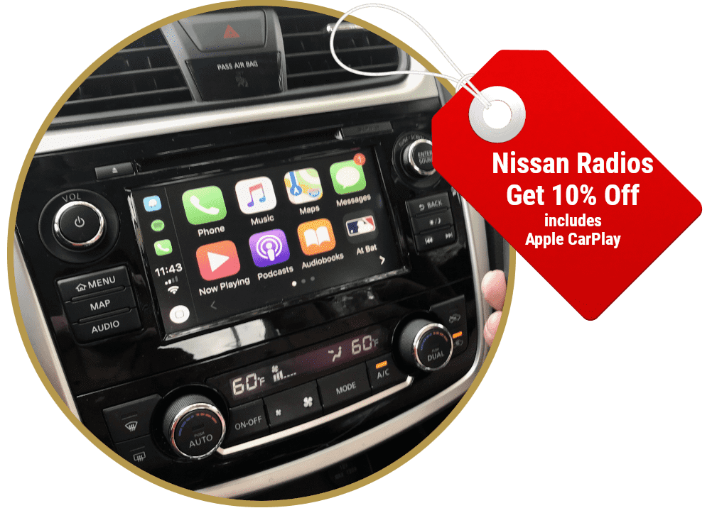 2013-2018 Nissan NissanConnect® GPS Navigation Radio with Apple CarPlay and Android Auto