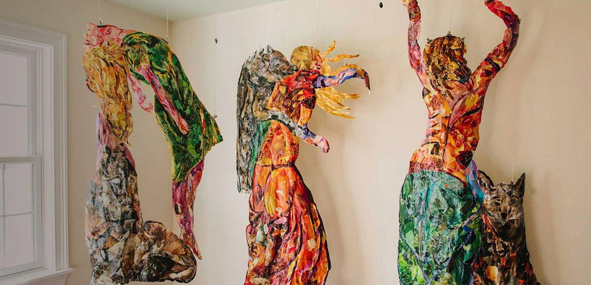 Wild Women sculptural collages