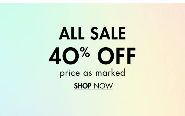 All Sale 40% Off