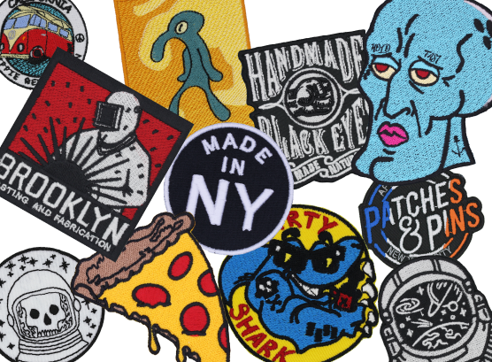 Custom Embroidered Patches With No Minimums, Stitched in the USA, Stitched in NYC