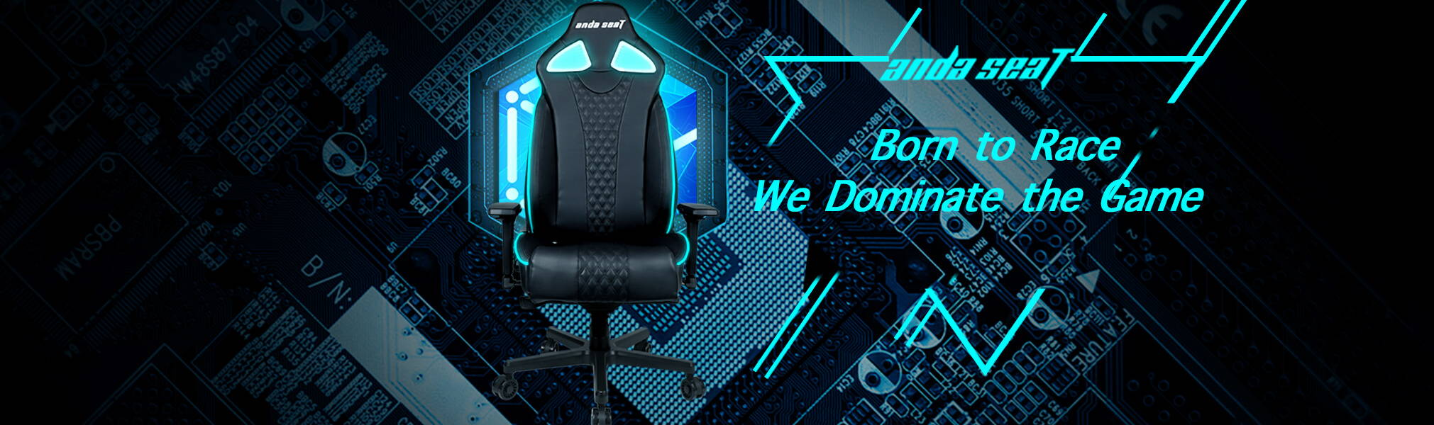RGB gaming chair with back pillows, high back