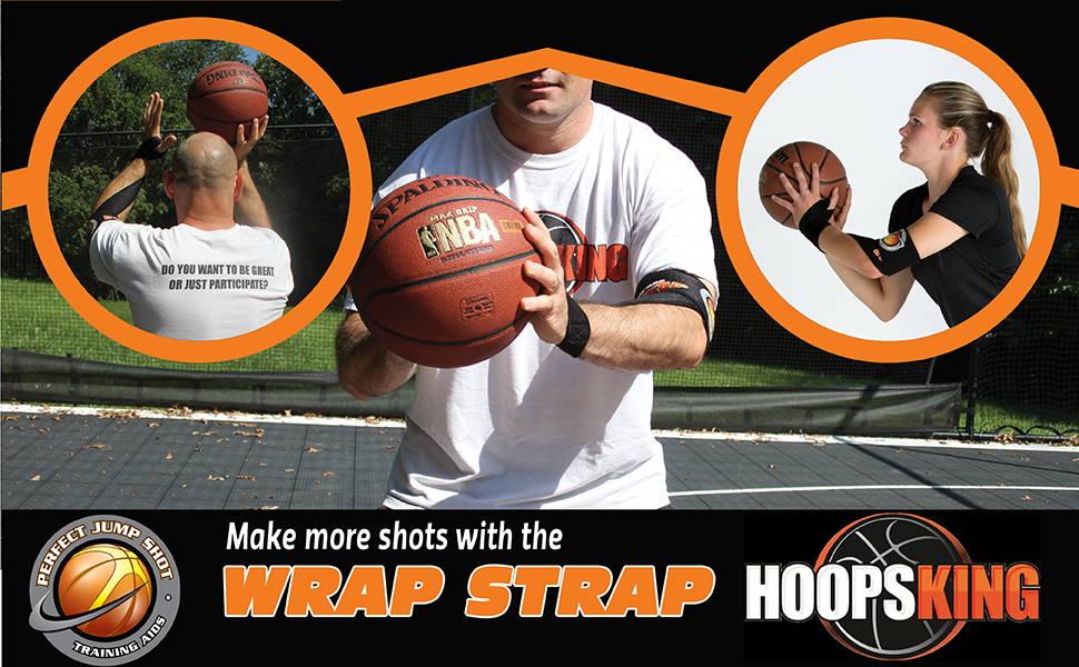 Wrap Strap Basketball shooting aid