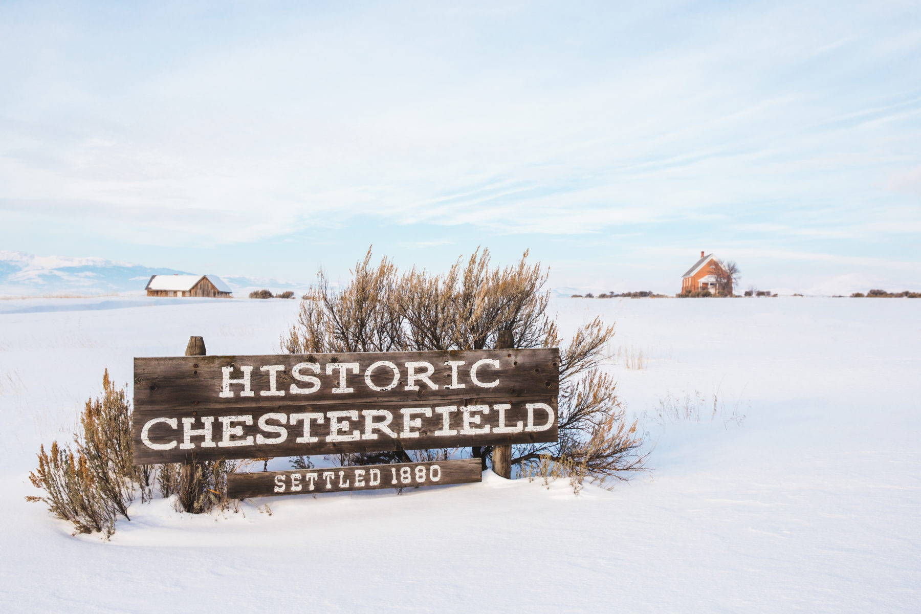 Chesterfield is an abandoned Mormon pioneer town founded in 1880