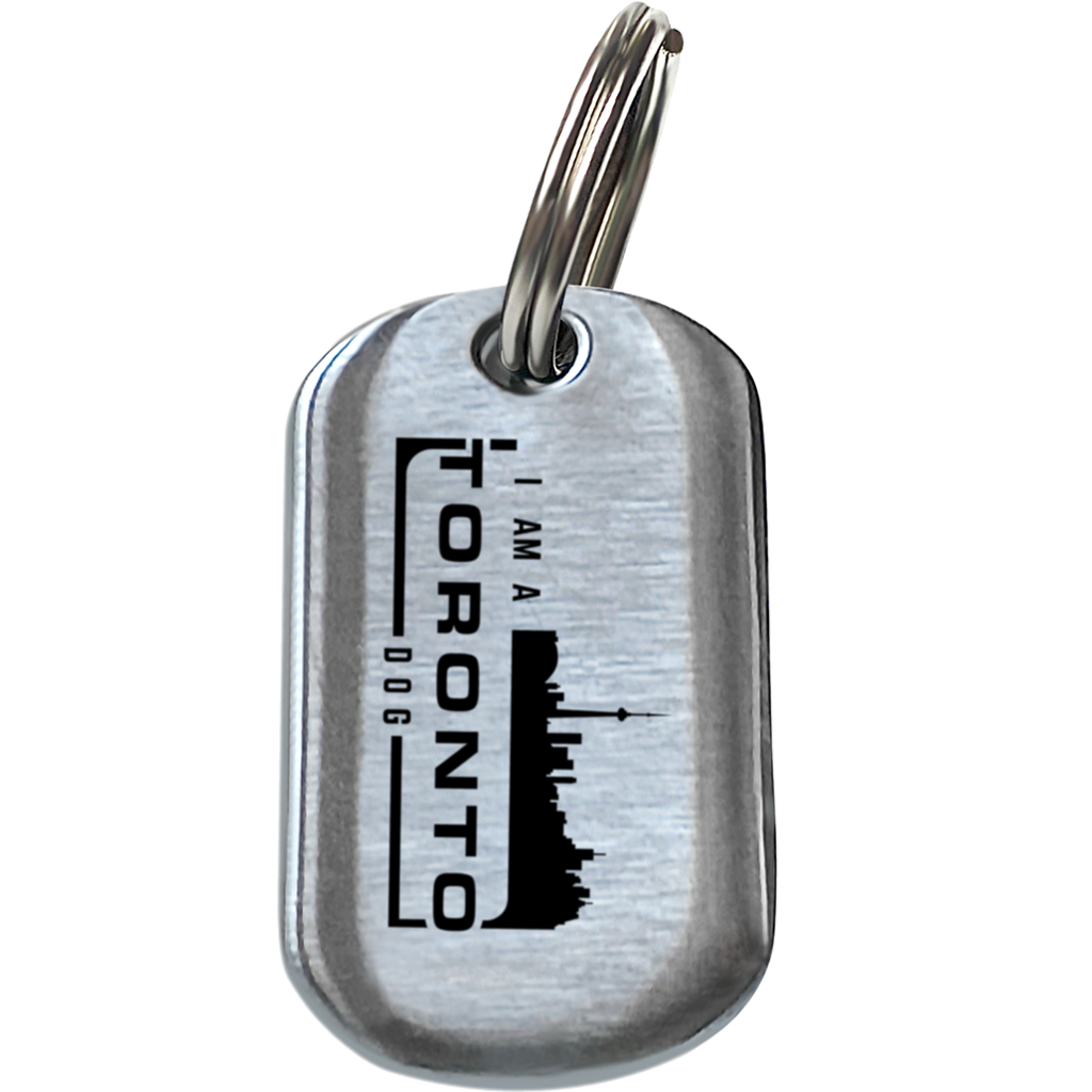 Toronto Dog Brushed Steel + New Licence: Single Tag