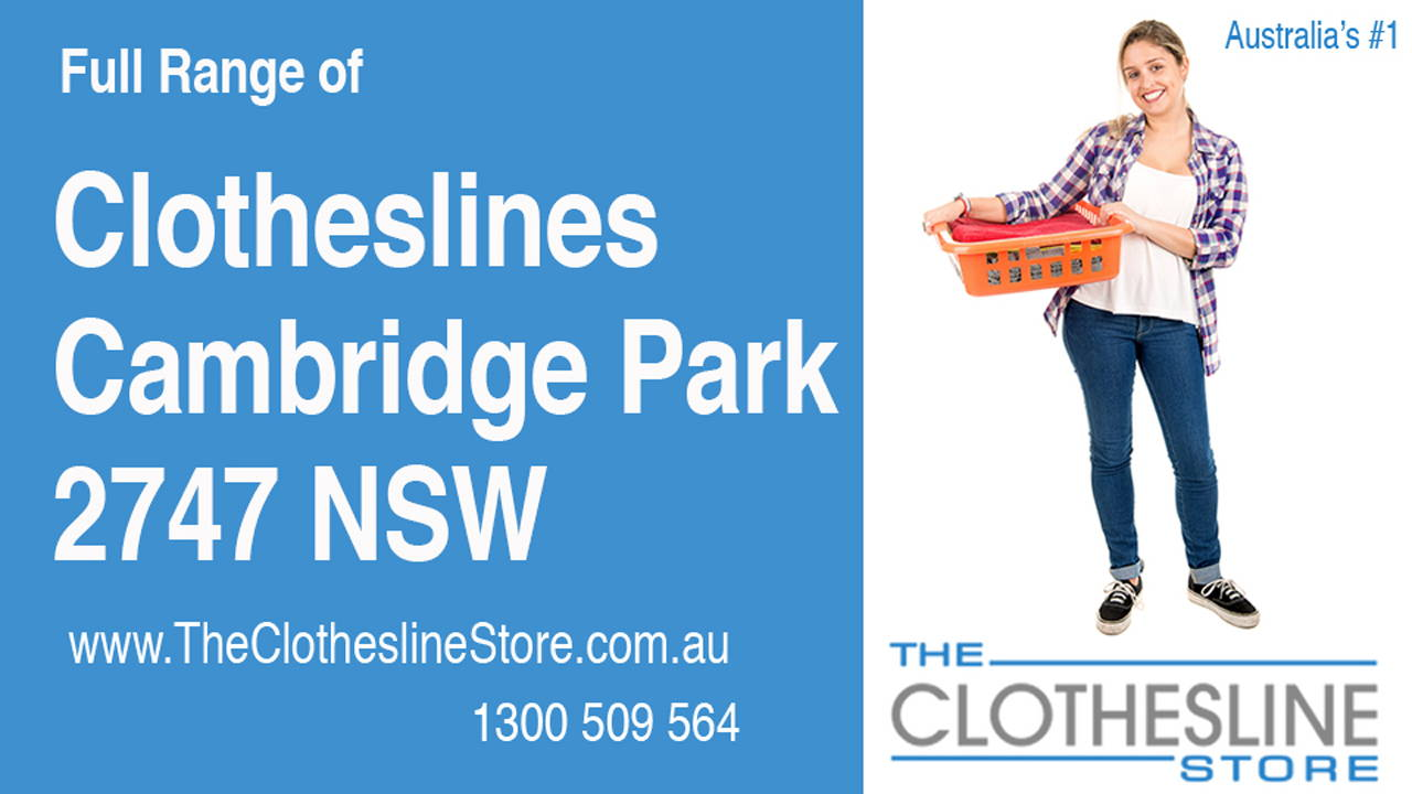 New Clotheslines in Cambridge Park 2747 NSW