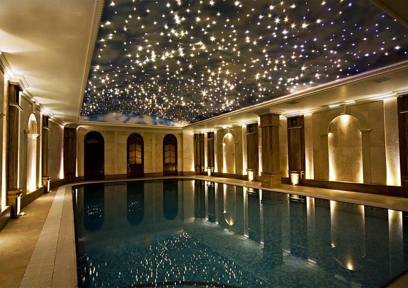 Over pool star ceilings - starry pool ceiling