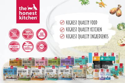 The Honest Kitchen pet food and treats collection