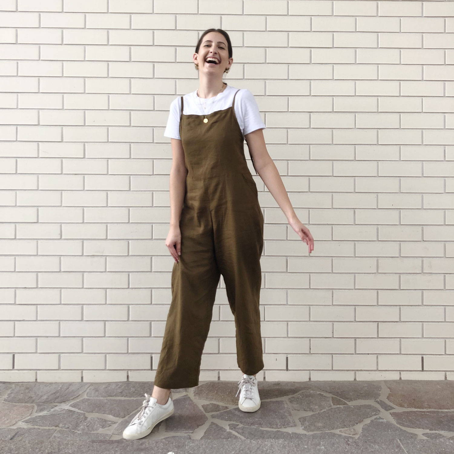 Staff Made Linen Jumpsuit- The Fabric Store Online
