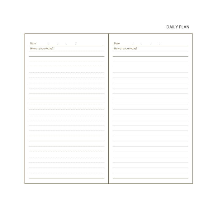 Daily plan - ICIEL How are you today dateless 180 daily diary journal
