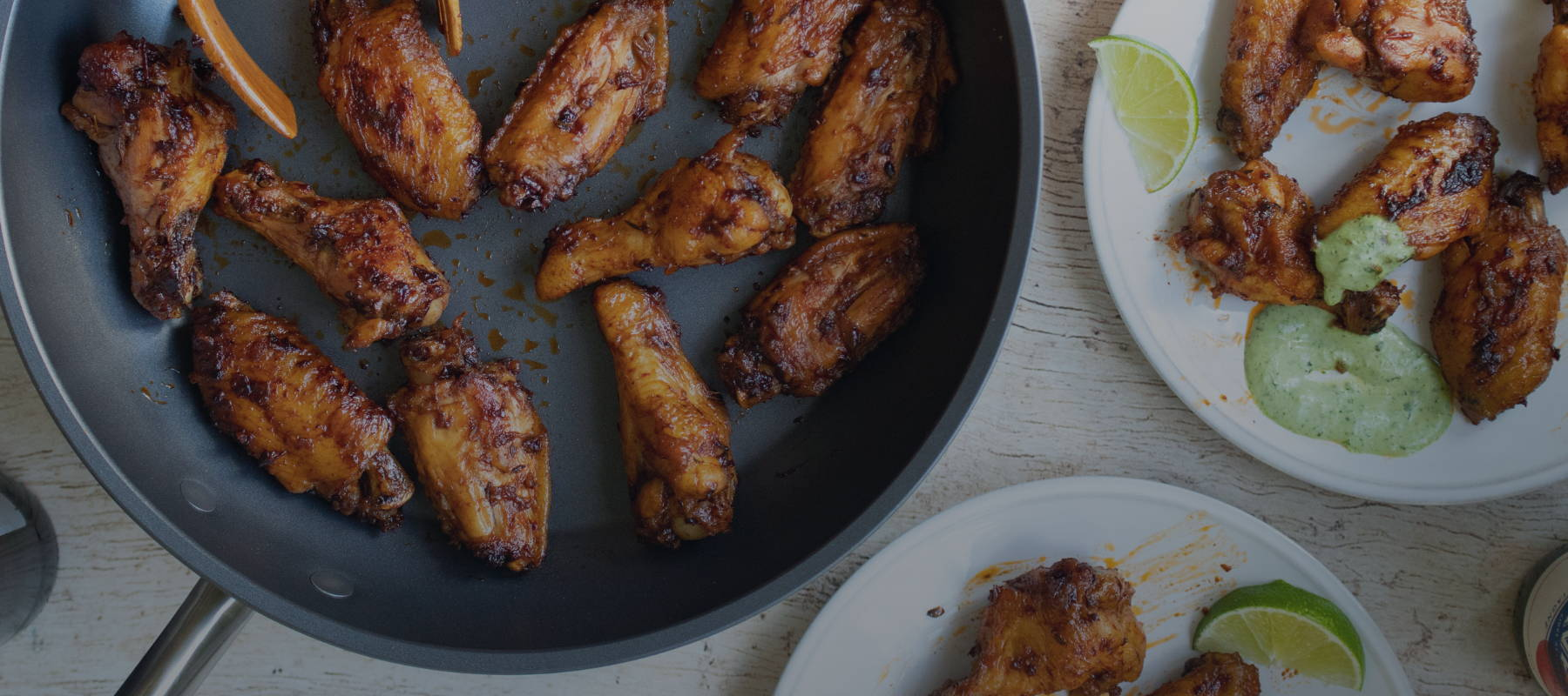 Peruvian Chicken Wings with Aji Verde