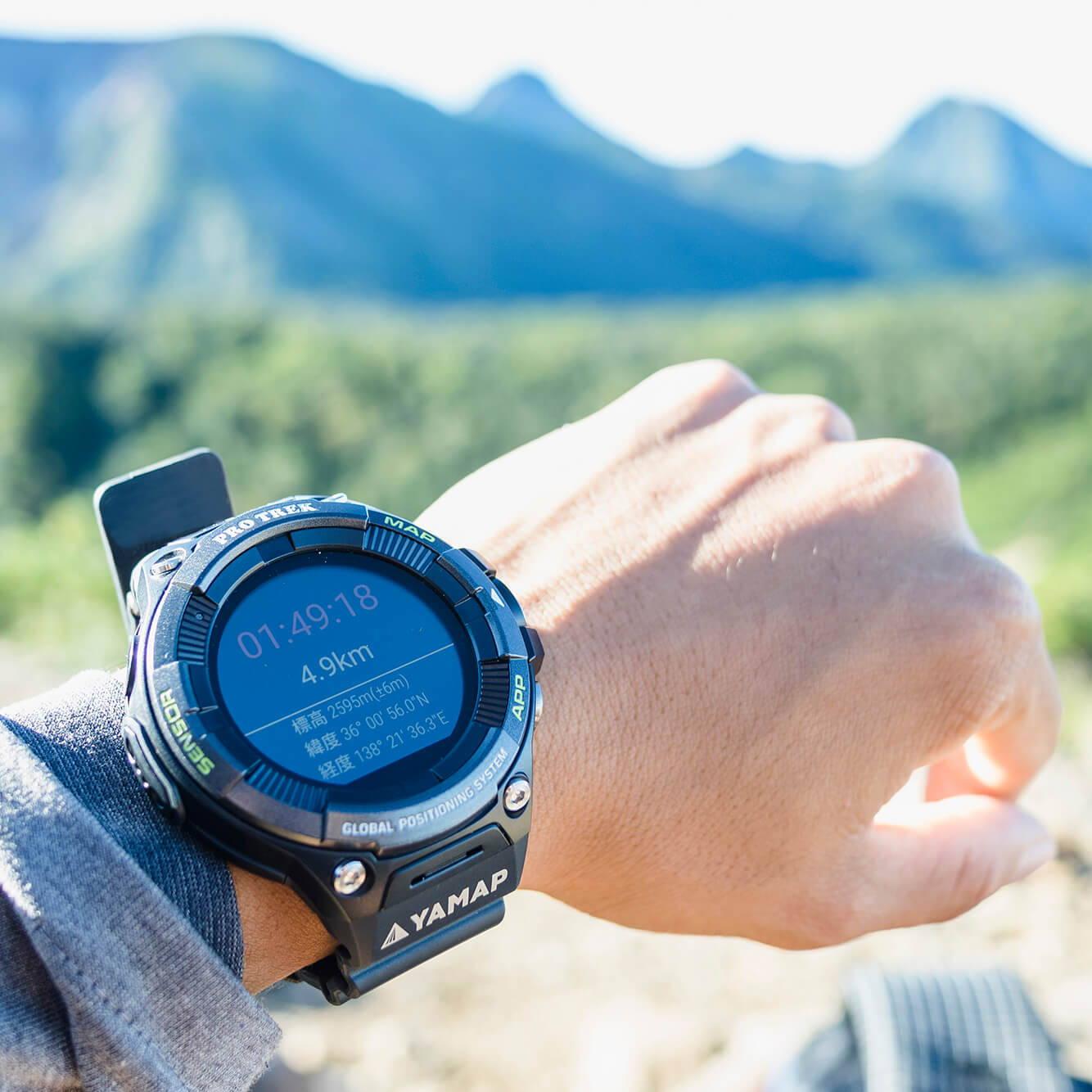 YAMAPを「装着」できるスマートウォッチ『PRO TREK Smart』