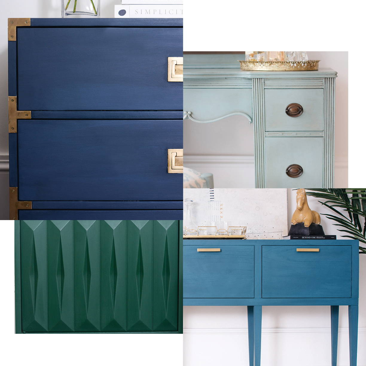 Jolie Paint Blues and Greens Color Gallery