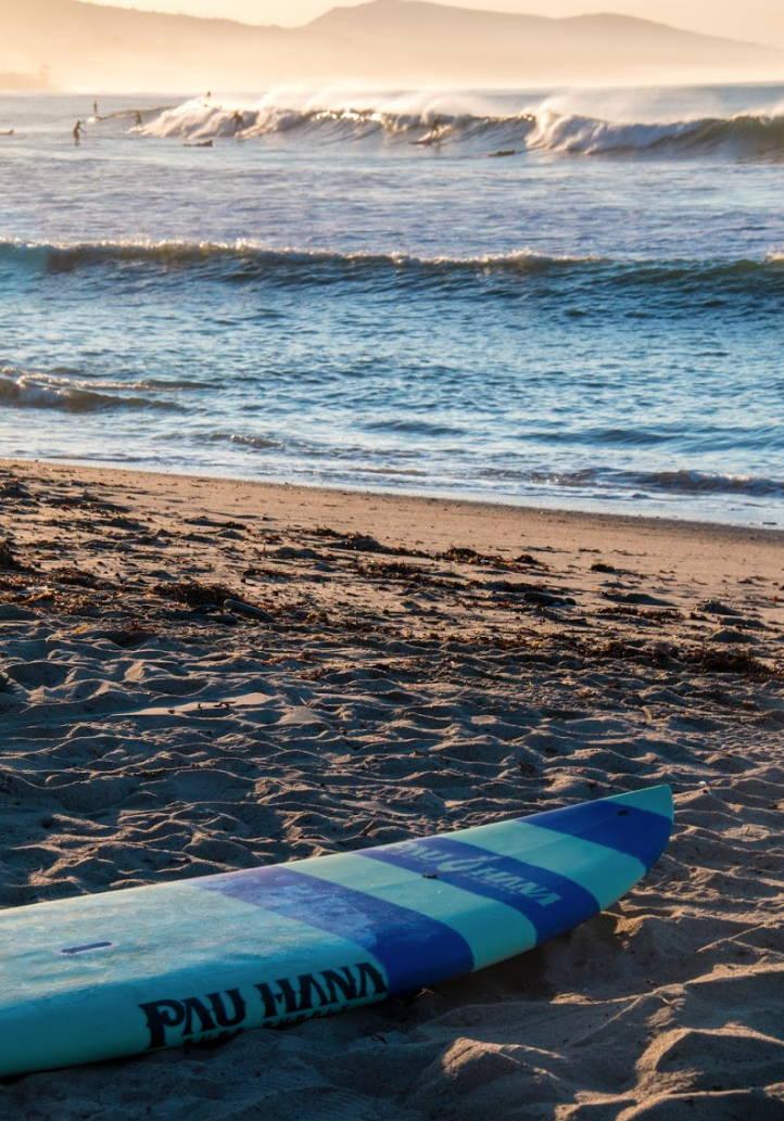 Doheney State Beach Park in Dana Point California Pau Hana Carve SUP