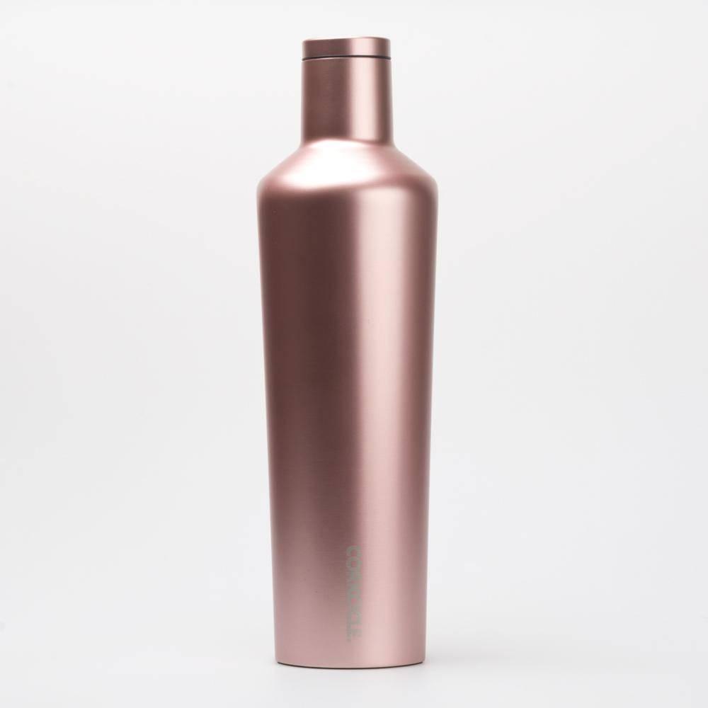 Corkcicle 25oz Canteen Premium Colors Rose Metallic