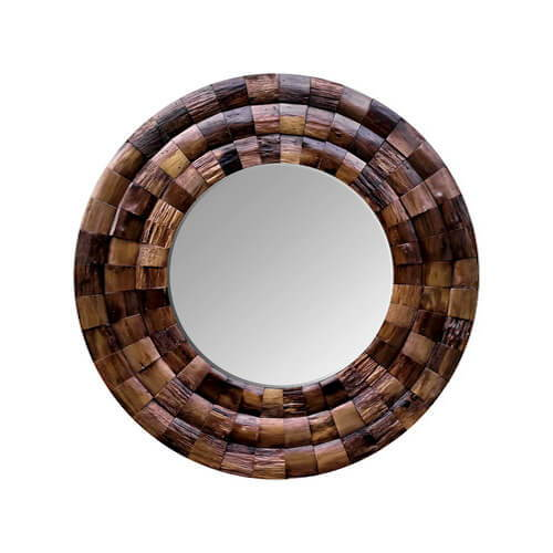 Varaluz Casa Wine Country Reclaimed Wood Circular Mirror