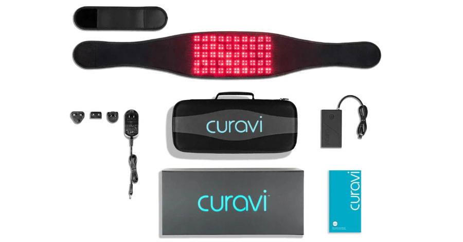 curavi belt and accessories flat