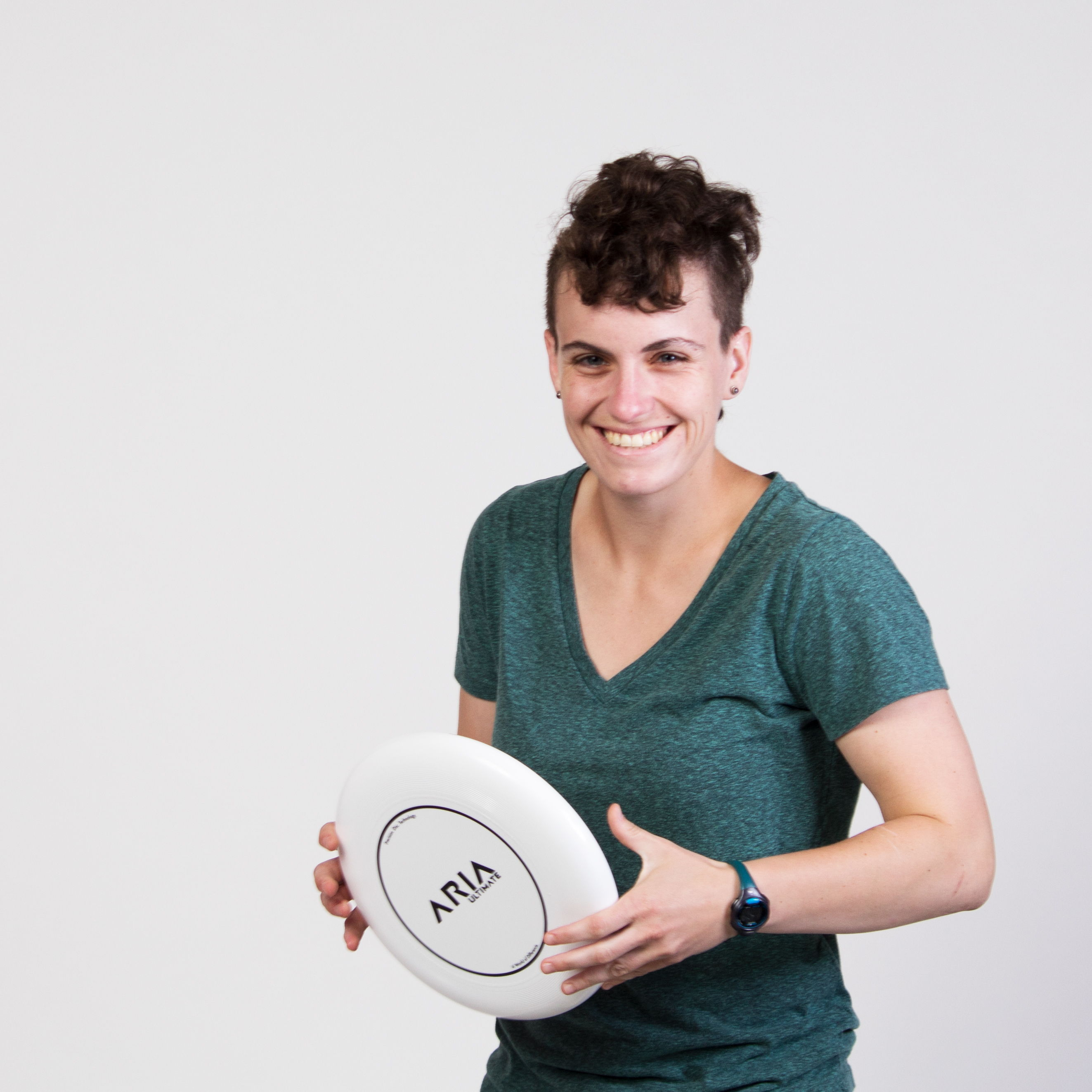 ARIA professional official ultimate flying disc for the sport commonly known as 'ultimate frisbee'  danielle dani osman