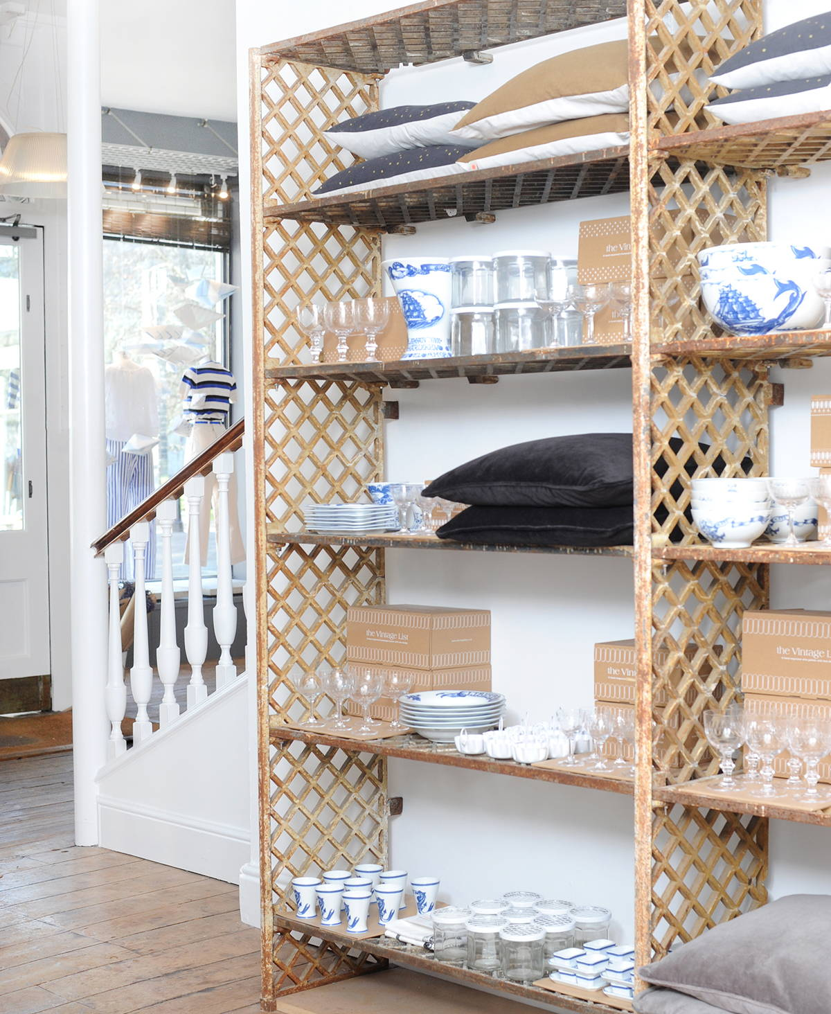The Metal Shelves with Homewares