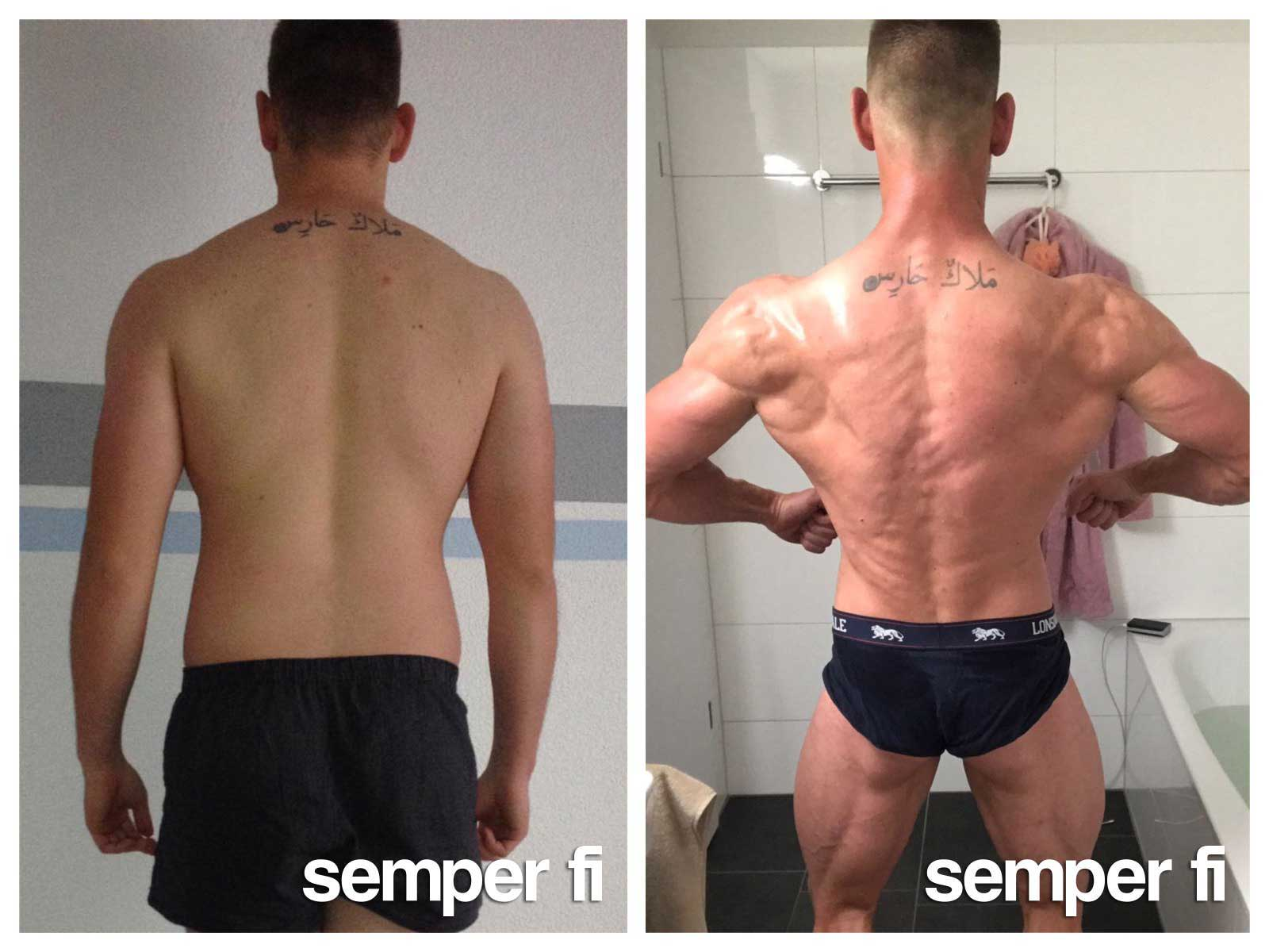 semper fi body concept Body Composition Online Coaching Kunde Philip