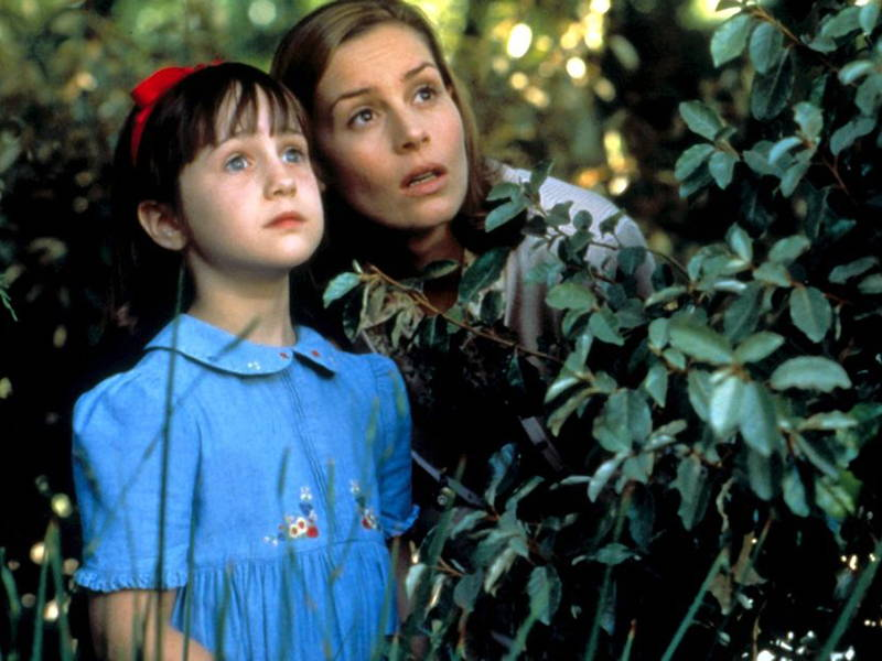 A still of Matilda and Miss Honey, from the film adaptation of 'Matilda' by Roald Dahl