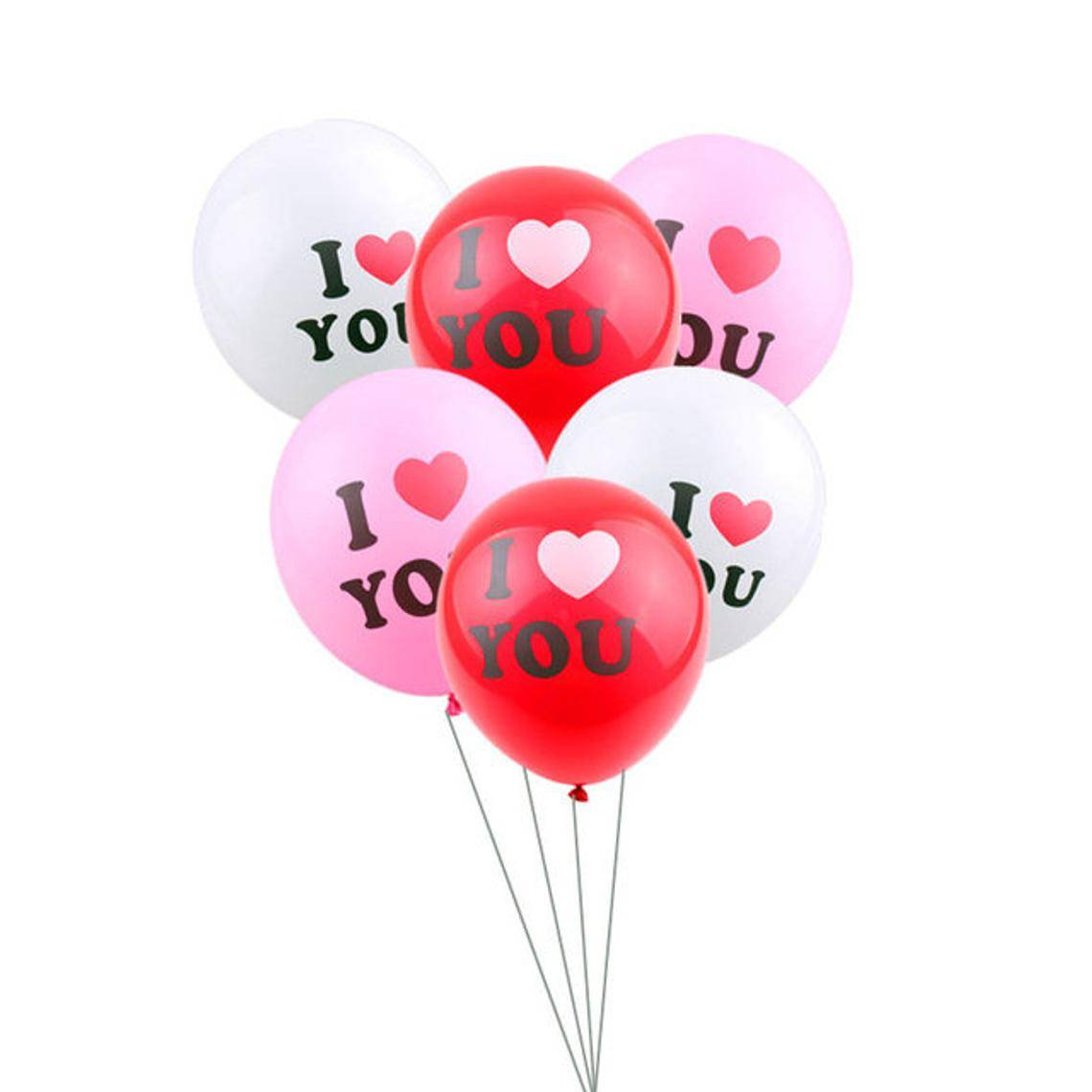Valentine's day I Love You Balloon 3 Colors Pack of 10 | Engagement Party Decoration Balloon | Wedding Decoration