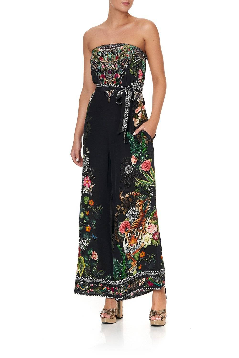 RAISED WITH WOLVES STRAPLESS JUMPSUIT
