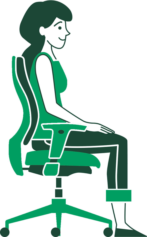 Standing desk - sitting - ergonofis
