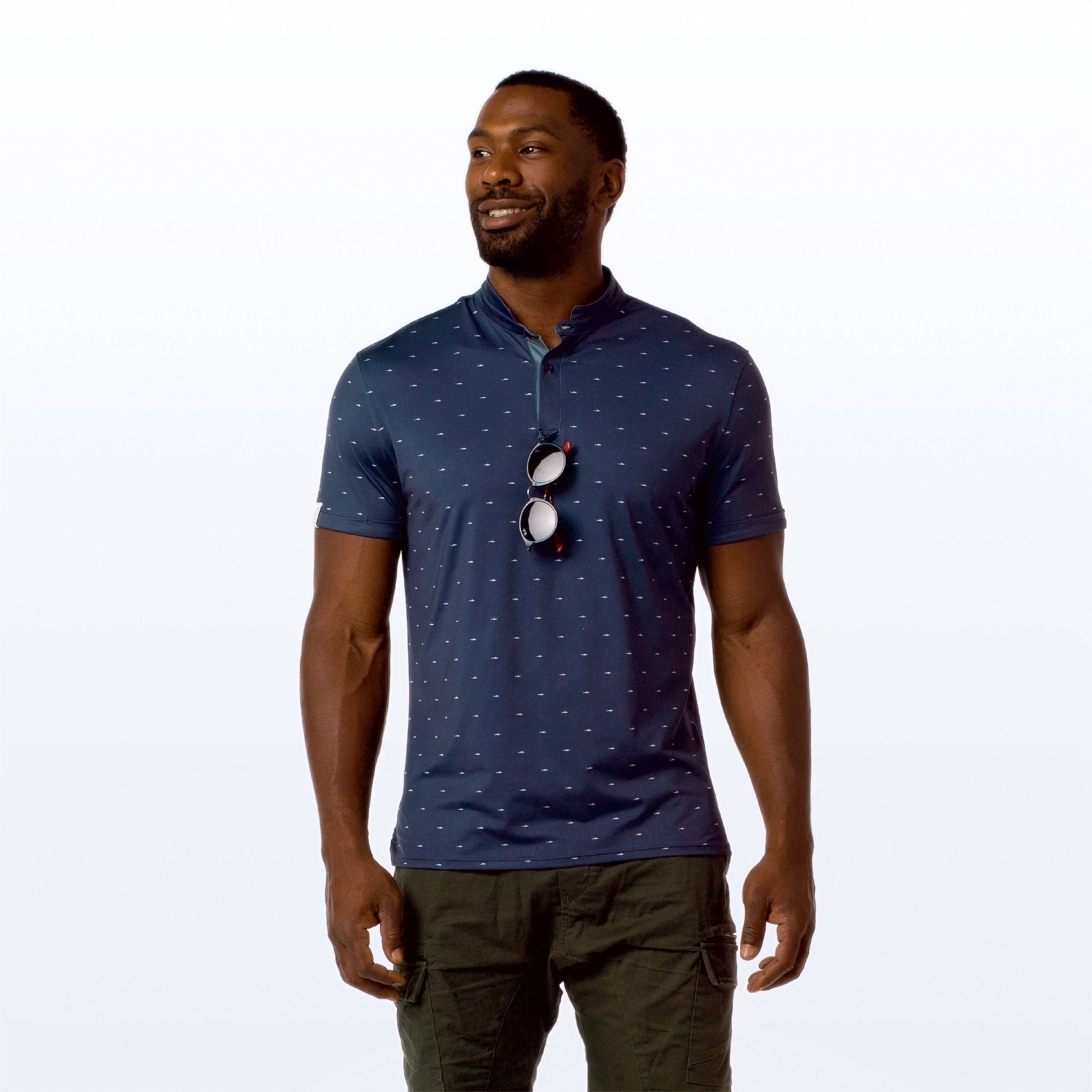 MANTRA El Tiburon Polo - sustainable mens polo made in the USA from repurposed materials