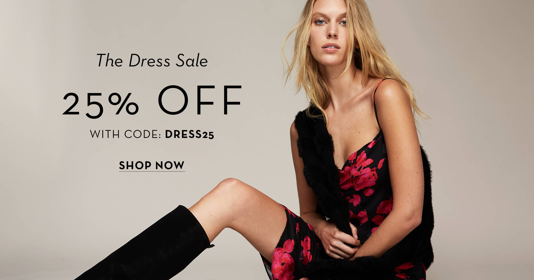 The dress sale 25% off with code DRESS25 shop now
